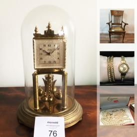 """MaxSold Auction: This online auction features Costume jewelry, gardening supplies, tools, vintage Atari computer. COLLECTIBLE: Annalee dolls, metal dollhouses; MCM pottery; china. Crafting supplies. GLASS/CRYSTAL: Tiffany bowl, Fostoria """"American"""" glassware; cut/pressed pieces. Sterling candlesticks and spoons and much more!"""