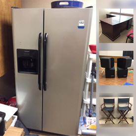 MaxSold Auction: This online auction features many office items, including executive desks, chairs, ViewSonic projector, Epson document scanners, Sony TV, Canon laser cartridge, computer speakers, computer monitors, framed art prints, Frigidaire refrigerator, coffee tables, love seats, leather chairs, office decor, file cabinets and much more!