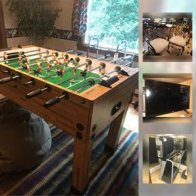 MaxSold Auction: This online auction features Wall Mirror, Mirrored Wall Lamp Sconces, Leather Loveseat, wheelchair, Sportcraft Foos Ball Table, LG TV, Bowflex SpiraFlex Weight Bench System, oil lamps, Hamilton Beach Roaster Oven and much more!