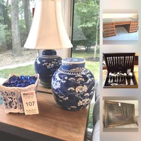 MaxSold Auction: This online auction features books, crystal, china, office supplies, figurines, lamps, wall art, VHS movies, stereo equipment, cameras, jewelry, outdoor furniture, glassware, tools, bicycles, shelving and much more.