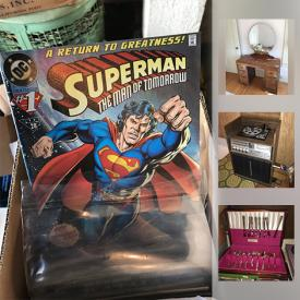 MaxSold Auction: This online auction features items such as Goebel dolls, Disney dolls, Star Trek, Batman and Superman comics, comic book collections, Singer sewing machines, a Royal Albert vase and much more!