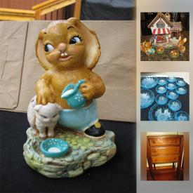 MaxSold Auction: This online auction features items such as Pendelphin rabbits, signed Brian Kelk fish bag art, vintage glass works from the 1960's, Lenox dolphins, vintage coral jewelry and much more!