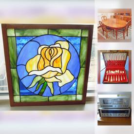 MaxSold Auction: This online auction features board games, collectors plates, mirrors, TVs, books, wall art, vacuum, carpets, outdoor furniture, crystal, glassware, shelves and much more.