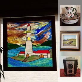 MaxSold Auction: This online auction features wall art, vases, glassware, luggage, books, CDs, lamps, dresses, cameras and much more.