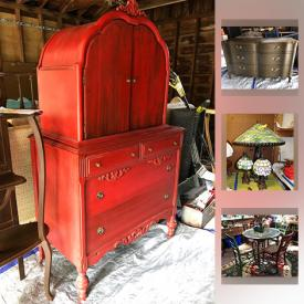 MaxSold Auction: This online auction features crystal, glassware, figurines, holiday decor, sewing machine, lamps, speakers, wall art, ceramics, stuffed animals, linens, outdoor furniture, yard tools, vintage cameras and much more.