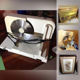MaxSold Auction: This online auction features a recumbent stationary bike, a vintage open back chair, an electric meat slicer, a portable gas grill, office supplies and much more!
