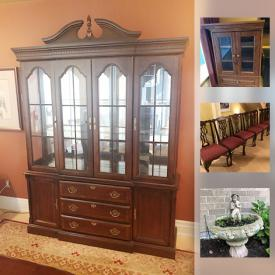 MaxSold Auction: This online auction features a wrought iron staircase, a garden fountain, Emerson thermostat, Asus 3-in-1 router, custom built stereo cabinet, a Kitchen Aid garbage compacter and much more!