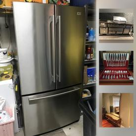 MaxSold Auction: This online auction features stainless steel island grill, stainless steel refrigerator, vintage furniture, silver plate, crystal ware, Coach bags, office items, wooden chest, dishware, treadmill, wine making supplies, outdoor planters, plants in pots, garden decor and much more!