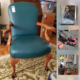 MaxSold Auction: This online auction features a Coleco Vision game system, a collection of decorative knives, a Breville espresso machine, a craftsman lawn mower, Bohemian cut glass lamp, an assortment of artwork and much more!