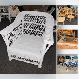 MaxSold Auction: This online auction features furniture, artworks, jewelry, collectibles, Mirror with Built In Lights, porcelain statue, Vintage Electric Typewriter, HUFFY Beach Bike, appliances and much more.