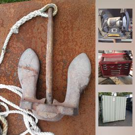 MaxSold Auction: This online auction features hand and power tools, welding equipment, extinguishers, flood lights, ladders, refrigerator, books, chains, phones, containers and much more.