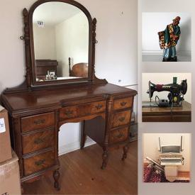 MaxSold Auction: This online auction features items such as antique furniture and decor, jewelry such as earrings and brooches, a Royal Doulton figurine, currency, coins, medallions and much more!