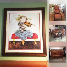 MaxSold Auction: This online auction features Rodo Boulanger Prints, Harry Potter, Lord of the Rings Books, Dresser, Mission Style Love Seat, Baby Sled, Schwinn Bicycle and much more!