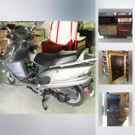 """MaxSold Auction: This online auction features Gator 150r scooter, electronics such as 23"""" Samsung TV, Xbox, cell phone accessories, Epson copier, laser printers, and computer parts, laboratory equipment, U.S. stamp collection, books such as medical textbooks, robotics, business, and fiction, wall art, shelving units, instrument cases, sporting equipment, floor cleaning machines, sewing machines and much more!"""