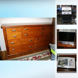 MaxSold Auction: This online auction features holiday decor, shelving, safe, wall art, figurines, candles, flat screen TV, entertainment centers, china, glassware, outdoor furniture, grill, camping gear, yard tools and much more.
