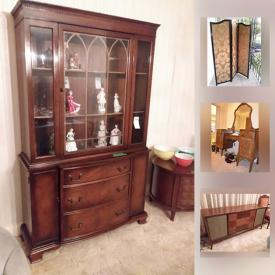 MaxSold Auction: This online auction features ladders, golf clubs, tools, crystal, boomerangs, wall art, figurines, lamps, china, books, alarm system, cameras, lamps, books and much more.