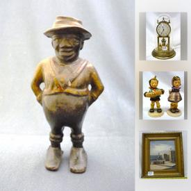 MaxSold Auction: This online auction features Pair of Antique Aude Mair Paris Mother of Pearl Opera Glasses, Vintage Black Americana Figural Still/ Piggy Bank, silver dollars, Hummel Figurines, Moorcroft, Royal Albert Fine Bone China, WWII memorabilia and much more!