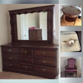 MaxSold Auction: This online auction features fireplace tools, candle holders, bells, vacuum, crystal, wall art, records, jewelry, lamps, refrigerator, ladders, tools, golf clubs and much more.
