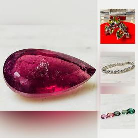 MaxSold Auction: This online auction features jewelry such as amethyst ring, green peridot ring, and gold-plated bracelet, loose stones such as 3.31 carat emerald, 28.10 carat rubellite, and 1.51 carat Ethiopian opal and much more!