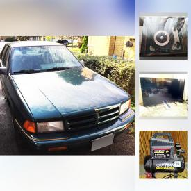 MaxSold Auction: This online auction features 1995 Dodge Spirit, flat screen TV, furniture, vintage chest freezer, apartment sized dryer, washer, power tools, yard tools, cleaning items, workmate, treadmill, bowflex, pressure washer, sofa bed and much more!
