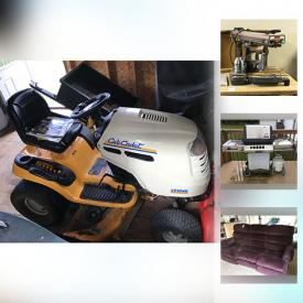 MaxSold Auction: This online auction features an exercise bike, wall art, audio equipment, grill, outdoor furniture, books, holiday decor, sports equipment, luggage, lawn mowers, office supplies, tools, lumber, shelving and much more.