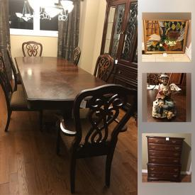 MaxSold Auction: This online auction features Medium Oak Stained Armoire, Solid Cherry Wood Dresser, Solid Cherry Wood Kincaid Custom Highboy Dresser, Original Signed Painting, Leather Loveseat and much more!