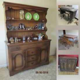 MaxSold Auction: This online auction features vintage Singer sewing table, washer and dryer, matching recliners, walker, Ikea cabinets, books, lamps, shelves, furniture, HP Pavilion monitor, folding chairs, kitchen items, mid-century style desk and much more!