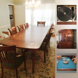 MaxSold Auction: This online auction features items such as silver plate serveware, sterling silver jewelry and collectible pins, vintage artworks, a pool table and darts, collectible dolls, an Atari and much more!