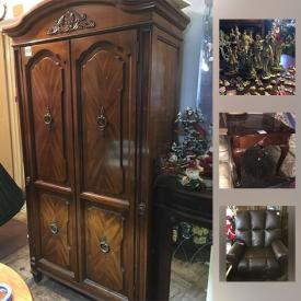 MaxSold Auction: This online auction features figurines, dolls, wall art, china cabinets, holiday decor, faux flowers, vases, tools, lamps, decorative plates and much more!