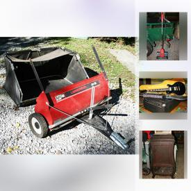 MaxSold Auction: This online auction features tools, kitchen appliances including a Keurig, meat slicer and microwave, ice auger, vintage jewelry, baking items and dishware, vinyl LPs, vintage Christmas decorations, vintage electric guitar and amp, lawnsweeper and yard/gardening tools, Royal Wedding Souvenirs and much more.