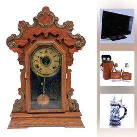 MaxSold Auction: This online auction features a vintage tricycle, vases, jewelry, TV, Roomba vacuum, wall art, DVDs, figurines, doll, steins, clocks and much more.