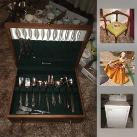 MaxSold Auction: This online auction features collector plates, figurines, wall art, glassware, crystal, lamps, ceramics, books, washer and dryer, shelving, lawn mower, tools, garden hose and much more.