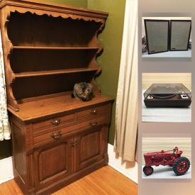 MaxSold Auction: This online auction features items such as new in box Star Wars figurines, diecast toy cars, fine china, an antique oak hutch and much more!