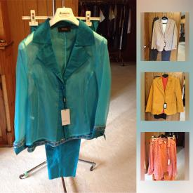MaxSold Auction: This online auction feature new ladies outfits size 18 - 6. Many from Germany. As well as accessories - shoes, bags hats, belts and much more.