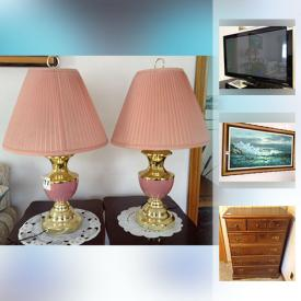 MaxSold Auction: This online auction features a flatscreen TV, home electronics, home furnishing, art and decor, dishware, microwave, auto jar opener, chair lift, a safe, treadmill, sewing machine, sterling silver cutlery, yard and garden tools, ladders and much more.