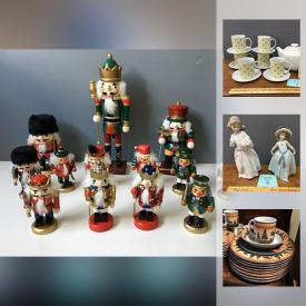 MaxSold Auction: This online auction features a loudspeaker system, figurines, fireplace tools, holiday decor, angels, textbooks, tools, glassware, china, mirror and much more.