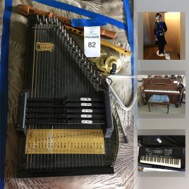 """MaxSold Auction: This online auction features COLLECTIBLE: Russian stamp collection; decorative swords; collectible dolls - Royalty, presidents and more; an Israeli Plate as well as Knowles """"Gone the Wind""""; Russian plates and more; bells; doll house furnishings; Joan Rivers timepiece eggs. MUSICAL INSTRUMENTS: Kawai piano and bench; Spectrum keyboard; autograph and other instruments . FURNITURE: Many bookcase, wall units and display/storage options and much more!"""