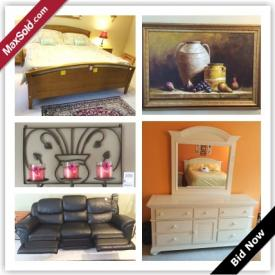 MaxSold Auction: This East Greenwich Downsizing auction was your one stop shop to furnish your home. This auction features three complete bedroom sets, a super comfy La-Z-boy couch and much more! Check it out!