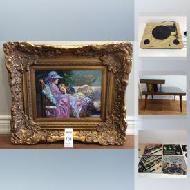 """MaxSold Auction: This online auction features Original Art work, """"Tuts Nanny"""" limited edition Peter Max print, oil painting, record collection, vintage stamp collection, vintage foreign coins, jewelry, diving scuba gear, Minton china and much more!"""