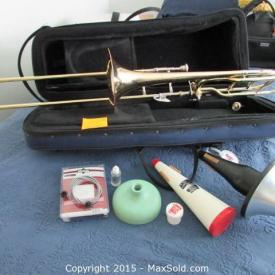 MaxSold Auction: If you are a music maker this auction would be for you. Two trombones, electronic keyboard and a saxophone are only a few of the items sold in this Littleton Downsizing Auction on MaxSold.
