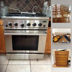 MaxSold Auction: This online auction features Coffee Grinders, Johnson Mandolin, Xylophone, DCS 5 Burner Gas Range, Sterling Silver Cups, Kitchenaid Toaster Oven, Violin, vintage Dresser, Cannon Rebel 2000, 18 Karat Gold Ring with Blue Stone, Wooden Desk and much more!