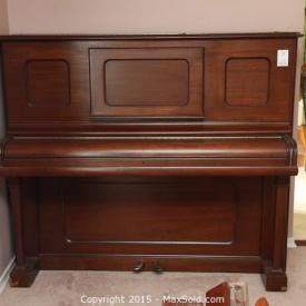 MaxSold Auction: This auction features Chesterfield, Upright Piano, Piano Bench, Leather Swivel Recliner, Samsung TV With Pioneer Receiver, Decorative Lot, Kitchen Table And Chairs, Chest Of Drawers, Cedar Chest, Vintage Chair, BBQ, Lantern Lot, Tools, Camera, Simonize Pressure Washer and more!