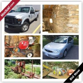 MaxSold Auction: Sometimes you don't need to have a versatile auction to have a successful auction. Lumber sell extremely well though our online process as proven by this Battersea Estate Auction. Also in this auction a 2008 Ford F-250SD truck which sold for over $15,000