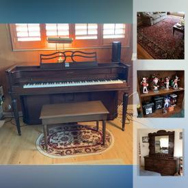 MaxSold Auction: This online auction features a piano, office chairs, rugs, vases, glassware, figurines, bookcases, baseball collectibles, wall art, record albums, bicycles and much more!