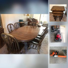 MaxSold Auction: This online auction features records, Christmas tree, TV, microwave, figurines, golf clubs, lawn mower, bicycle, bookcases, decorative plates, and much more!