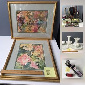 MaxSold Auction: This online auction features storage boxes, Antique Baby Clothes, Costume Jewelry, Vintage Saws, Fishing Gear, Sydenstriker Glass, Framed Signed Watercolors, The Dionne Quintuplets memorabilia, Shirley Temple Ephemera, Sony Speaker System and much more!