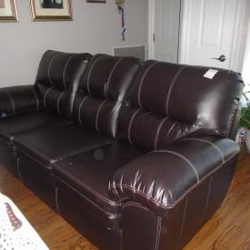 MaxSold Auction: This auction features Leather Sofa, Casual Chair, Glass Coffee Table, Guitar, Artwork, Golf Clubs, Mirror, Bedside Tables, Queen Size Bed, Massage Chair, Dresser, Truck Tires, Tool Chest, Electronics, Welding Helmets and more!