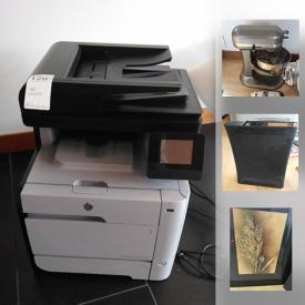 MaxSold Auction: This auction features HP Printer Scanner Copier, Miele Vacuum, XBox360, Framed limited edition prints, Kitchen Aid Mixer With Accessories, Drone made by DJI Mavic 2, Tennis Spinfire, FreeCross Bike and much more!