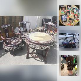 MaxSold Auction: This online auction features vintage items, Shaquille O'Neal Signed Card, Aluminum Bike, Teak Carved Birthing Chair, Baseball Memorabilia, Hercules Radial Tires, electronics, collectibles and much more!