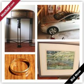 MaxSold Auction: Cars always are a success in the auction biz! This Waterloo estate sale had a Hyundai Sonata which sold for over $11,000, not to shabby! Also included in this auction is watches, rugs and other household items.